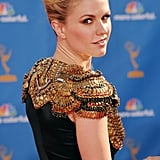 Check out that exquisite detailing on Anna Paquin's McQueen dress.