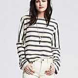Banana Republic Striped Pique Sweatshirt ($70)