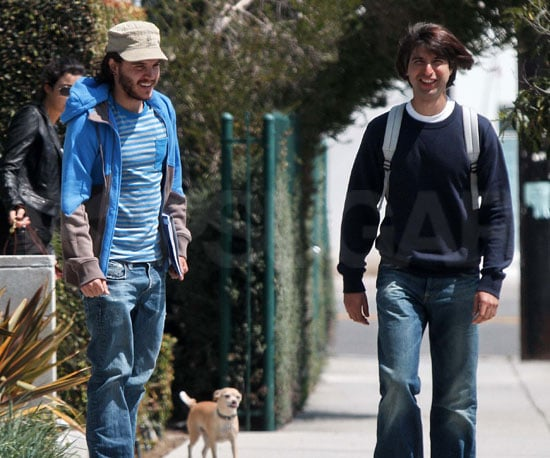 Photo Slide of Emile Hirsch and Demetri Martin Out in LA