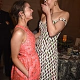 Sophie and Maisie cracked up during the afterparty for the Game of Thrones season five premiere in San Francisco in March 2015.