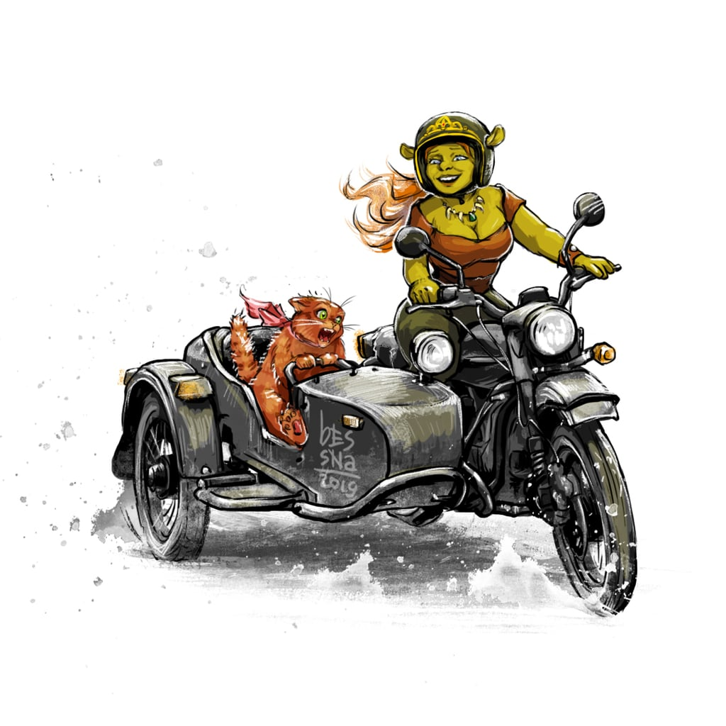 Fiona May Not Technically Be a Disney Princess, but She Still Looks Pretty Cool on a Motorcycle