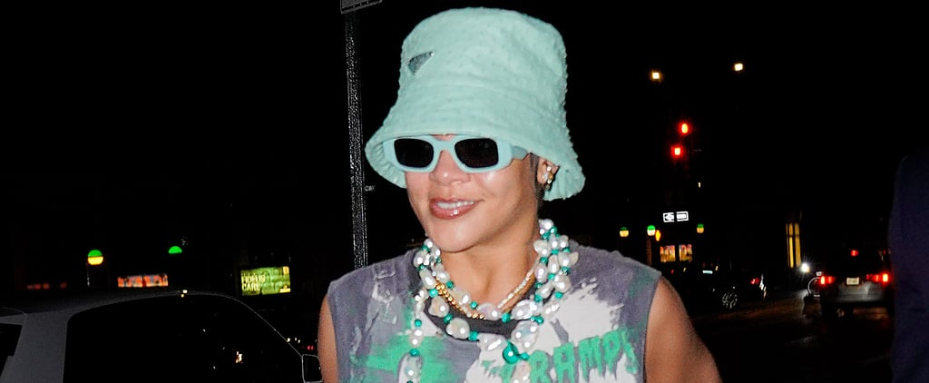 Rihanna's Green Prada Bucket Hat With A$AP Rocky on Date
