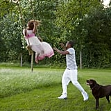 Beyoncé shared a behind-the-scenes snap of her fun with Jay Z in August 2012.