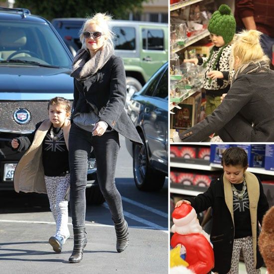 Gwen Stefani Gets Her Christmas Shopping Started With Kingston and Zuma