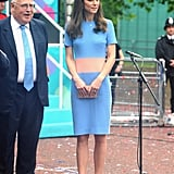Kate Wore a Colorblock Dress to The Patron Lunch Celebration, Showing Us a Chic Way to Embrace Brighter Hues