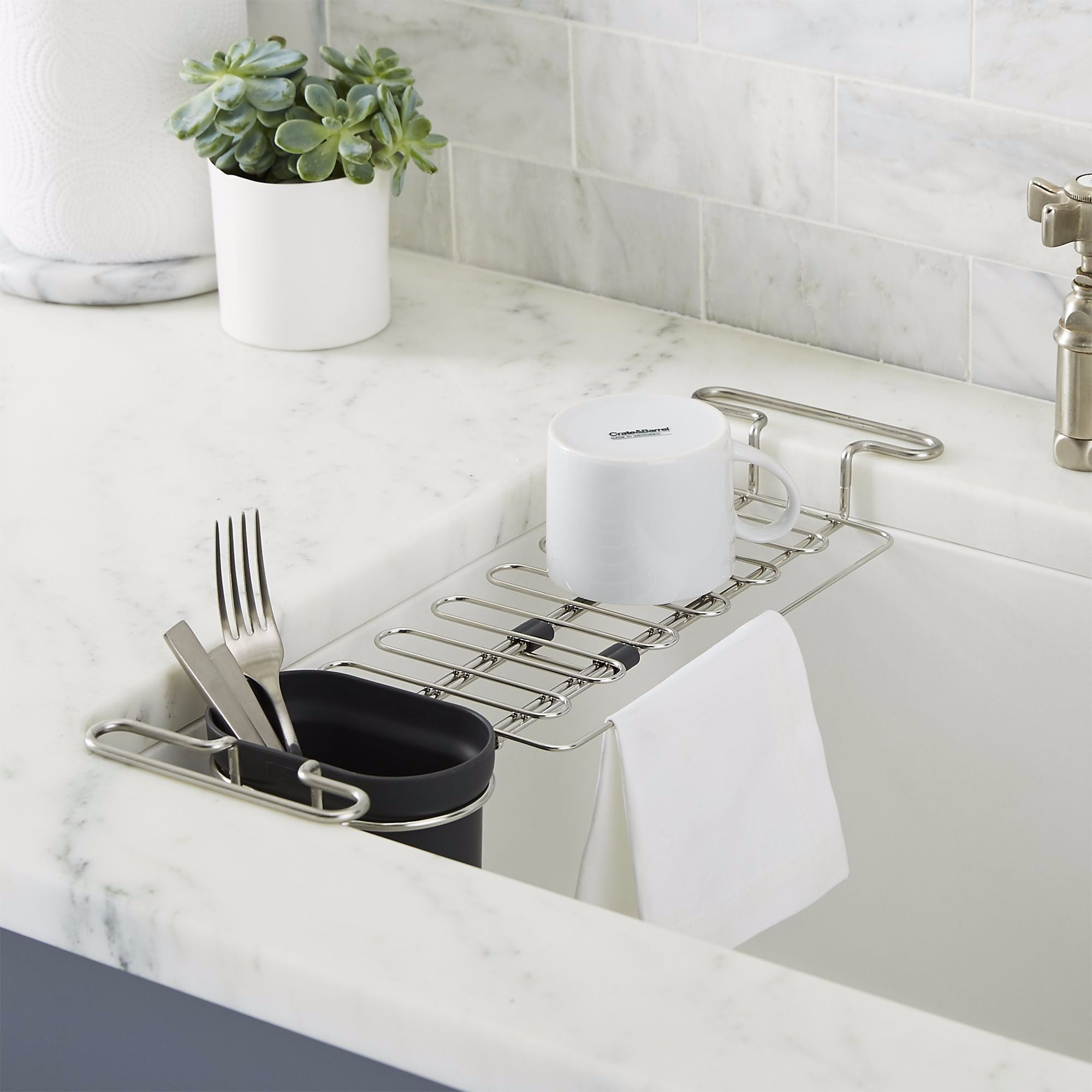 Soap Dispenser With Sponge Holder | Kitchen Sink Organization ...