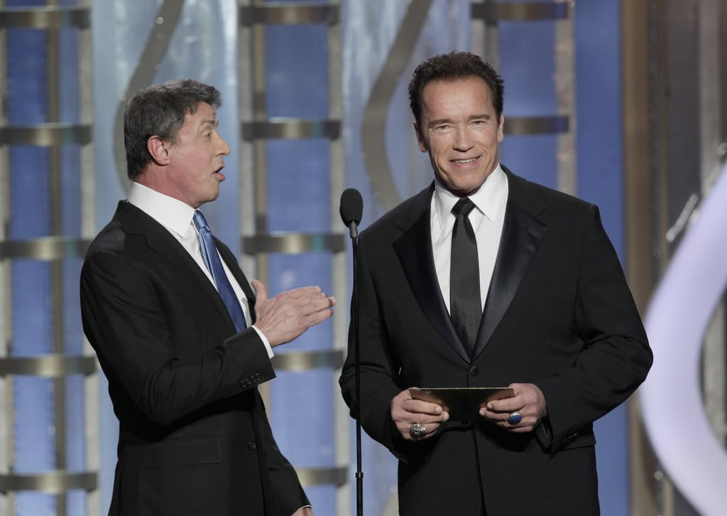 Sylvester Stallone and Arnold Schwarzenegger brought some action star flavor to the Globes.