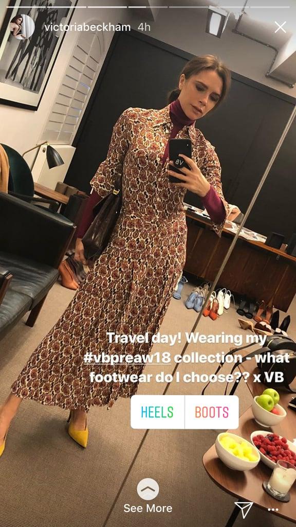 Victoria Beckham Needed Help Choosing Between Heels and Boots For Traveling