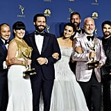 Pictured: Cast and crew of The Assassination of Gianni Versace: American Crime Story