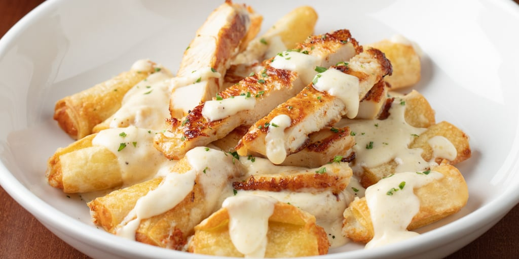 Ziti Fritta With Grilled Chicken And Alfredo Olive Garden S Serving Never Ending Stuffed Pasta And Holy Sh T There S A Deep Fried Option Popsugar Food Photo 2