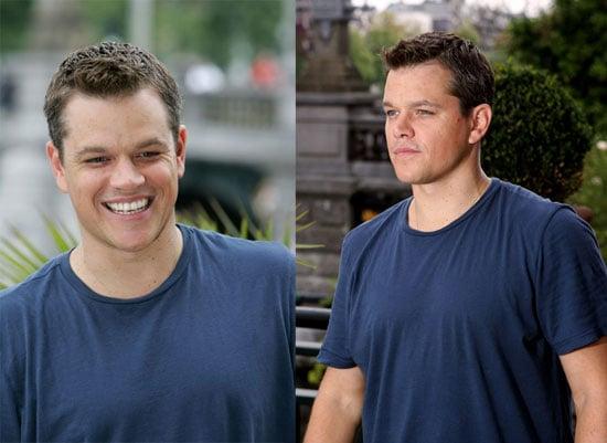 Matt Damon May Dress Down But His Spirits Are Up