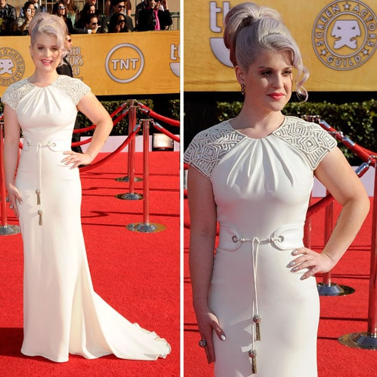 Pictures of Kelly Osbourne in White Badgley Mischka Dress at the 2012 SAG Awards Red Carpet: Rate it or hate it!