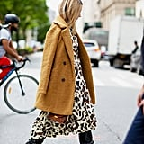 Easy Outfits: A Teddy Coat, Dress, Boots, and a Bag