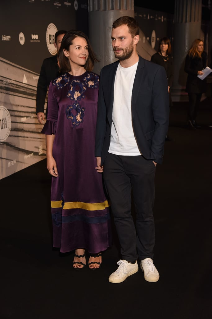 Jamie Dornan and wife Amelia Warner made a delightful appearance at the British Independent Film Awards in London on Sunday. The couple, who tied the knot back in 2013, kept close as they posed for pictures, and at one point, Amelia was seen gazing lovingly at her husband. It was an especially big night for Jamie, who was nominated for best supporting actor for his role in Anthropoid. The pair's latest appearance comes a month after Jamie stopped by Jimmy Kimmel Live, and two weeks after Jamie and Amelia attended the UK premiere of Mum's List.