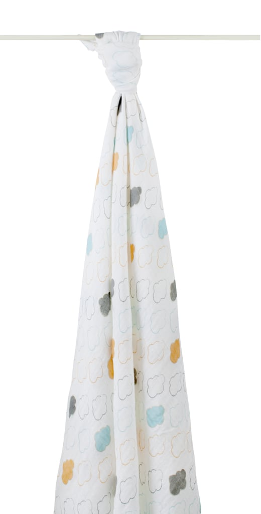 The Honest Company worked with Aden + Anias to create a soft swaddle for babies ($55 for 3). We love the pastel hues and cloud pattern.