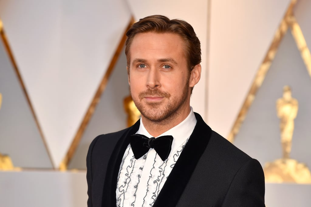 After weeks spent wondering whether or not Ryan Gosling and Eva Mendes would attend the Oscars together, we finally got our answer on Monday when the La La Land star showed up. . . alone. Ryan still looked as hot as ever during his solo outing, wearing a black tuxedo with a retro ruffled shirt.    Ryan has gone stag to all of the major award shows and La La Land premieres this year, so were really hoping to see the two arm in arm at the last award show of the season — but it seems as though Eva might be more comfortable watching her man from home (the couple have been dating since 2011 and have two daughters together, Esmeralda and Amada). At least we'll get to see a lot of Ryan with his co-star, Emma Stone.