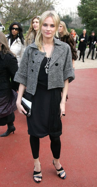 Diane Kruger at Paris Haute Couture Fashion Week in 2007