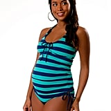Splendid Side Ruched Maternity Tankini ($135)