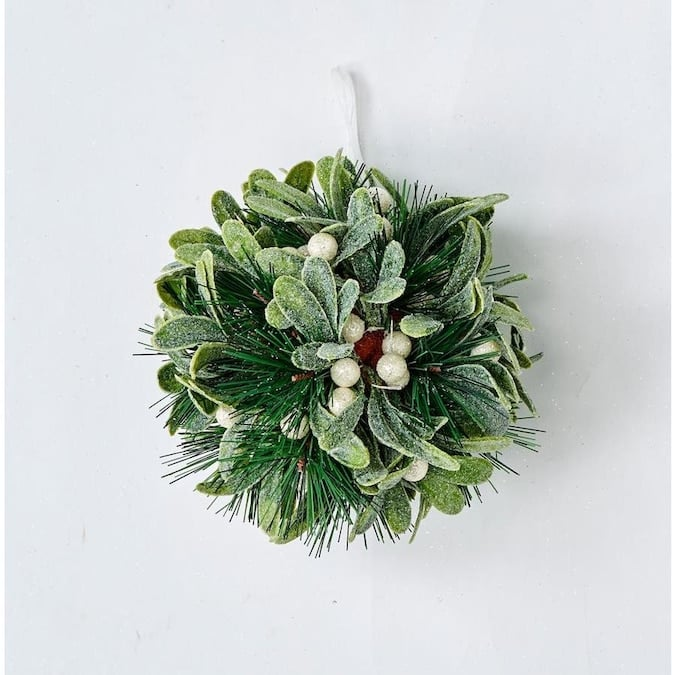 Worth Imports 6-in Mistletoe and Pine Kissing Ball Lowes.com