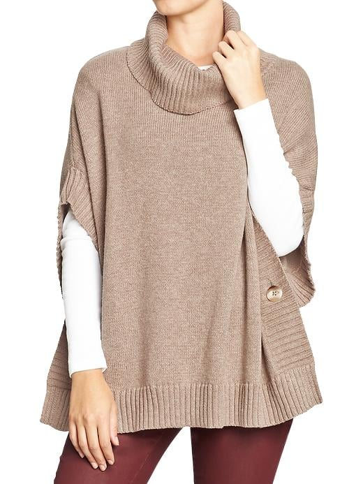 Break up your sweater routine with this Old Navy funnel-neck poncho ($40).