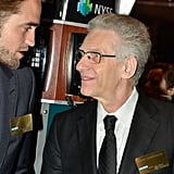 David Cronenberg chatted with Robert Pattinson at the New York Stock Exchange.