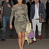 Nancy Dell'Olio looked typically glam at the private view.