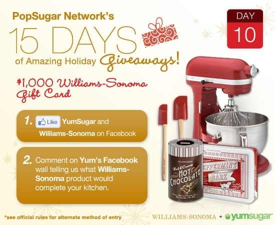 Williams sonoma 30 000 sweepstakes and giveaways