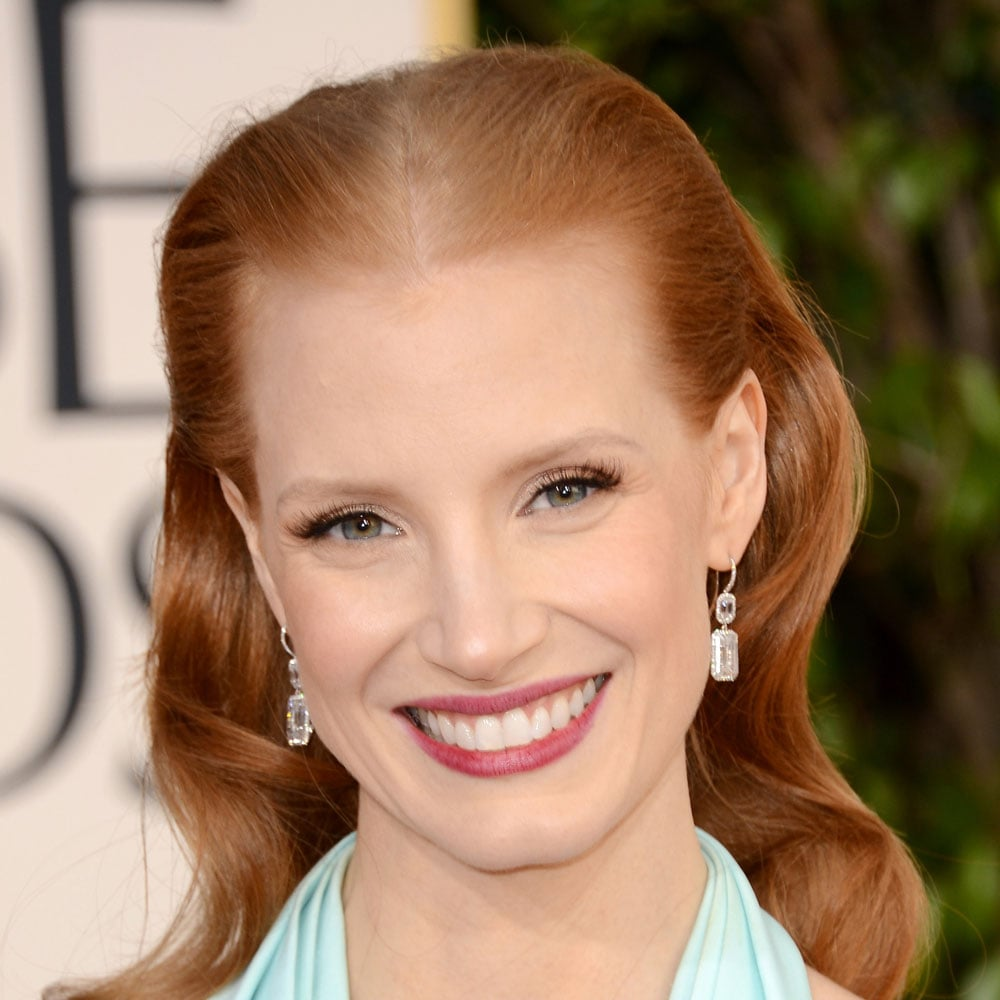 Pictures of Jessica Chastain at the 2013 Golden Globes