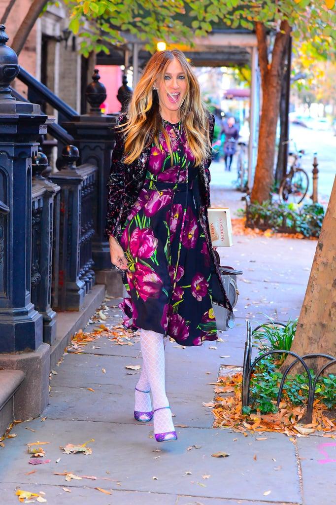 Sarah Jessica Parker Wearing White Tights November 2016