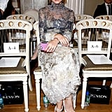 Olivia Palermo was ready for the Marchesa show on Saturday.