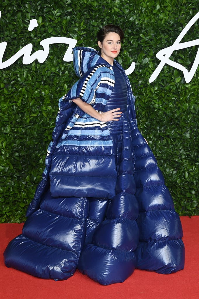 Shailene Woodley at the British Fashion Awards 2019