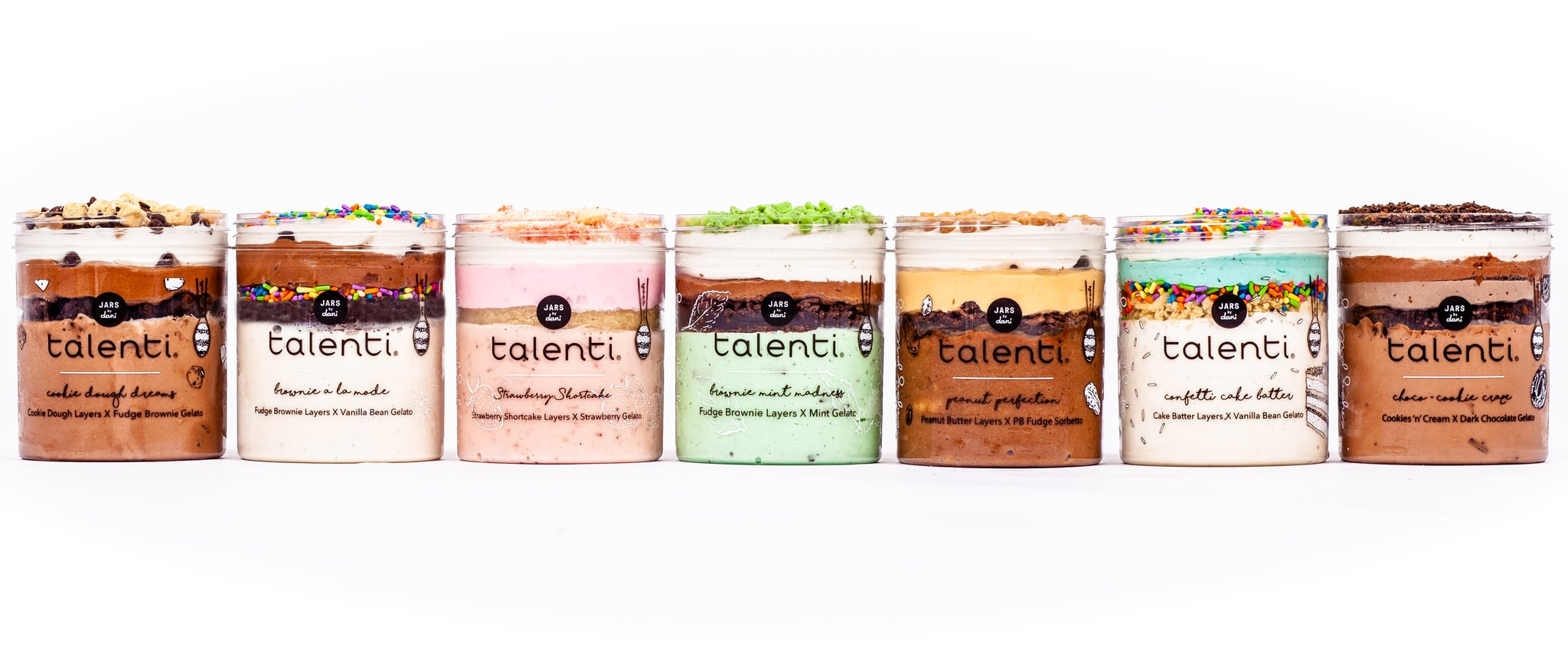 Talenti Jars by Dani Layered Gelato Flavors