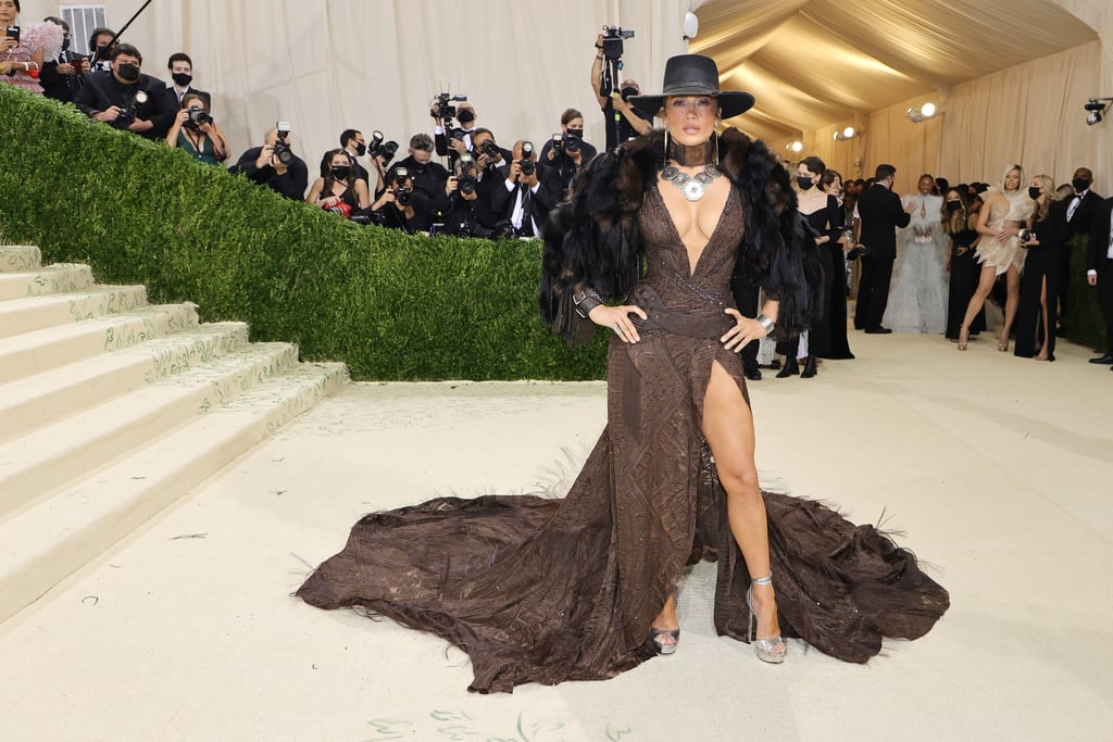 J Lo Wears Ralph Lauren to the Met Gala With Her DSW Shoes