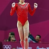 McKayla Maroney of Team USA's gymnastics celebrated her performance on the vault.