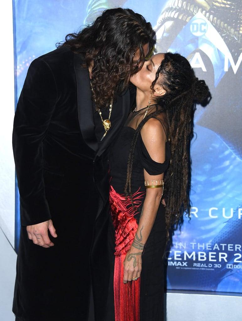 Jason Momoa and Lisa Bonet at the Aquaman Hollywood Premiere