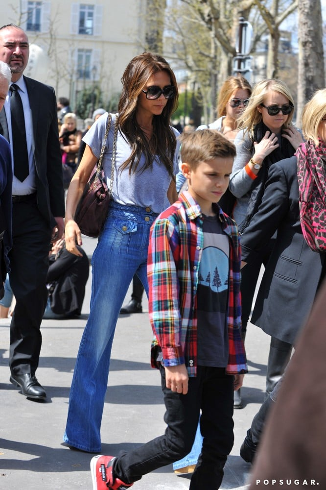 Victoria Beckham Joins Her Family in Paris