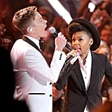 Nate Ruess and Janelle Monae sang together.