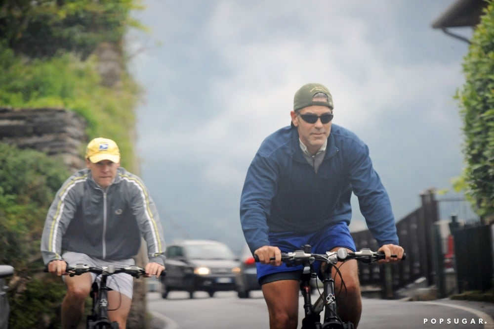 George Clooney took Tate Donovan for a bike ride around Lake Como in June 2008.