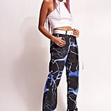 Jaded London Lightning Print Boyfriend Fit Jeans