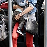 Miranda Kerr spends time with Flynn at the Children's Museum in NYC.