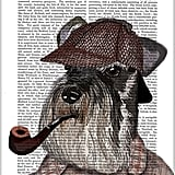 Schnauzer Sherlock Print