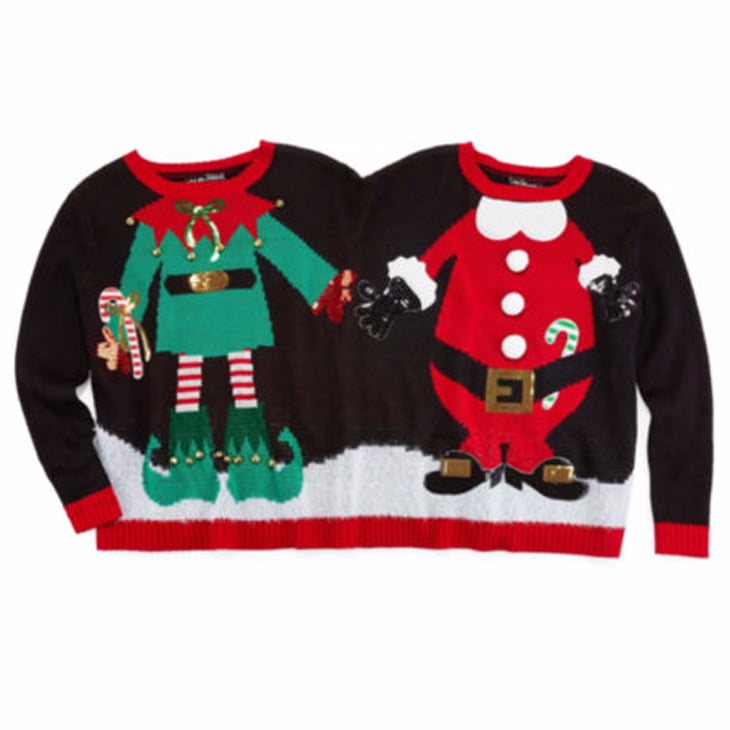 elf and santa two person ugly christmas sweater - Ugly Christmas Sweater Elf