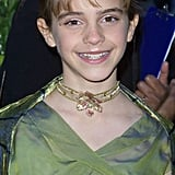 At the premiere of Harry Potter and the Sorcerer's Stone in 2001, Emma chose a frosted pink eye shadow look and glossy lips.