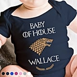 Personalized Game of Thrones Baby Onesie