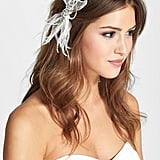 Serephine Quinn Silk and Feather Hair Clip ($115)