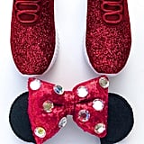 Minnie Mouse Red Glitter Athletic Shoes