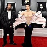 Offset and Cardi B at the Grammy Awards in 2019