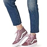Vans Sk8-Hi Reissue Pink Glitter Sneakers