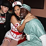 Kimora Lee Simmons and Djimon Hounsou as a Nurse and Doctor