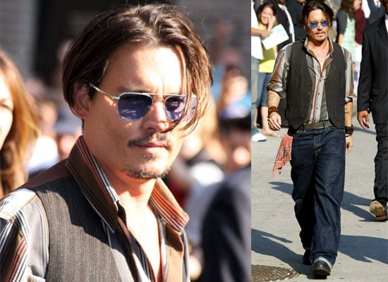 Photos and Video Of Johnny Depp On David Letterman Promoting Public Enemies